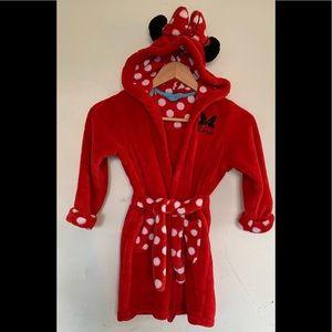 Disney Girls Minnie Mouse  Plush Robe